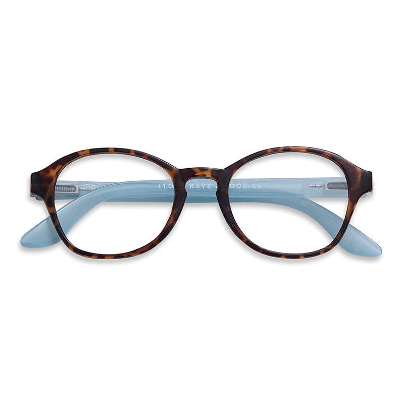 Lesebrille Circle horn/blue+1 - 