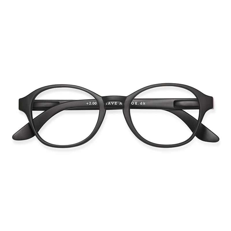 Lesebrille Circle Black +1 - 
