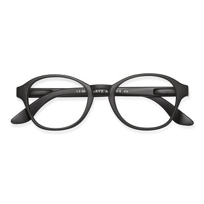 Lesebrille Circle Black +2,5 - Have A Look