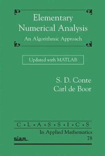 Elementary Numerical Analysis - S.D. Conte