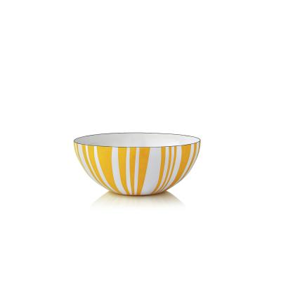 Stripes bolle gul 10 cm - Cathrineholm