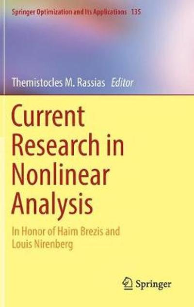 Current Research in Nonlinear Analysis - Themistocles M. Rassias