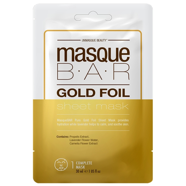 Gold Foil Sheet Mask - Masque Bar