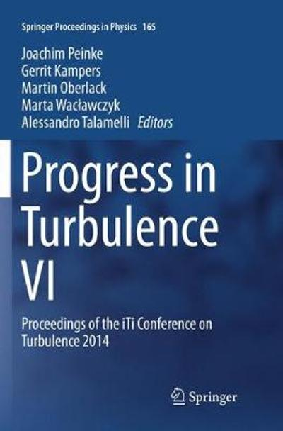Progress in Turbulence VI - Joachim Peinke