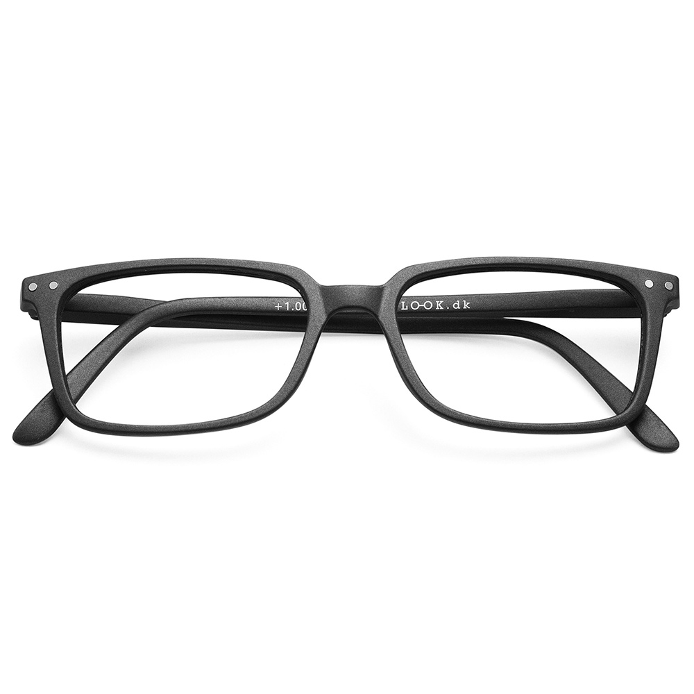 Lesebrille Classic Black +1 - 