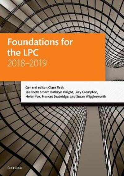 Foundations for the LPC 2018-2019 - Clare Firth