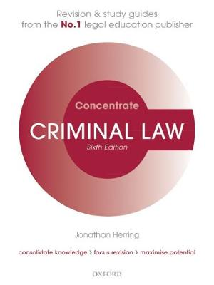 Criminal Law Concentrate - Jonathan Herring