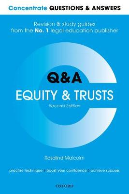 Concentrate Questions and Answers Equity and Trusts - Rosalind Malcolm