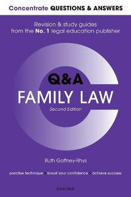 Concentrate Questions and Answers Family Law - Ruth Gaffney-Rhys