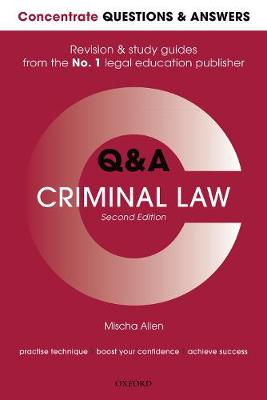 Concentrate Q&A Criminal Law - Mischa Allen
