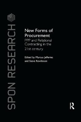 New Forms of Procurement - Marcus C. Jefferies
