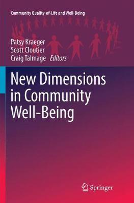 New Dimensions in Community Well-Being - Patsy Kraeger