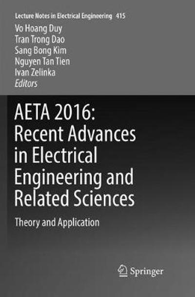 AETA 2016: Recent Advances in Electrical Engineering and Related Sciences - Vo Hoang Duy
