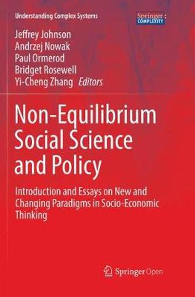 Non-Equilibrium Social Science and Policy - Jeffrey Johnson