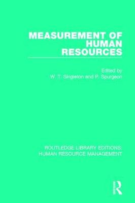 Measurement of Human Resources - W. T. Singleton