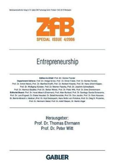 Entrepreneurship - Thomas Ehrmann