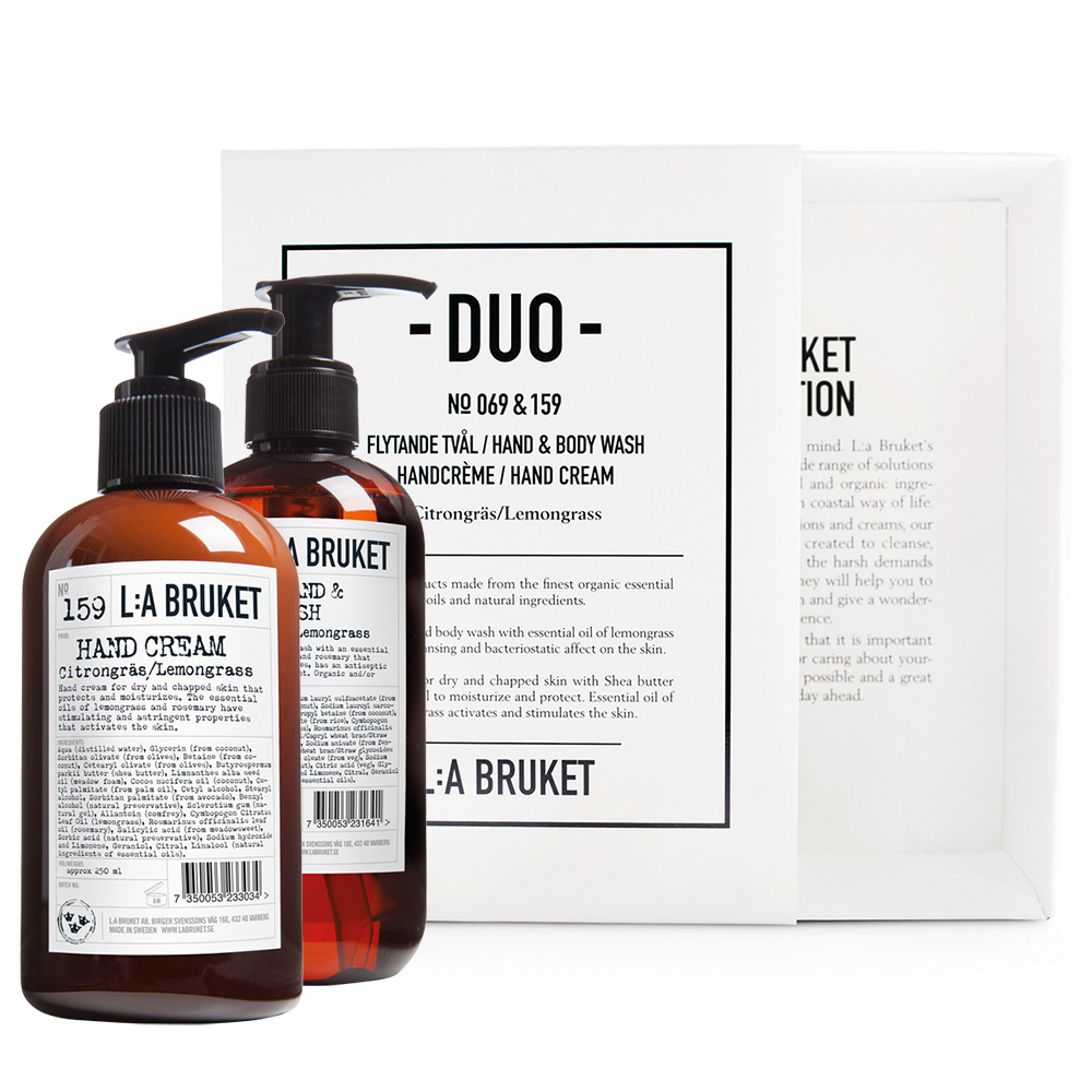 Duo-kit Flytende Såpe/Handcrème Sitrongress 200 ml - L:A Bruket