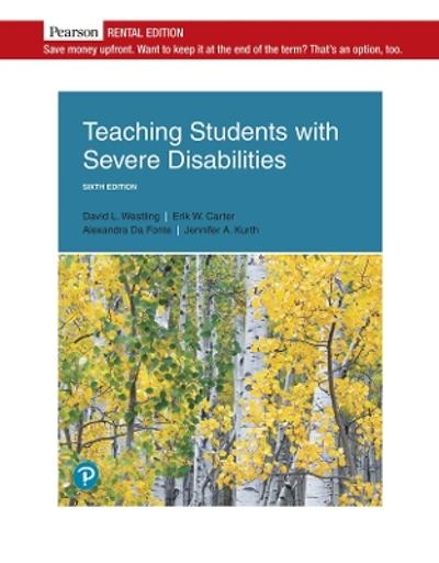 Teaching Students with Severe Disabilities - David L Westling