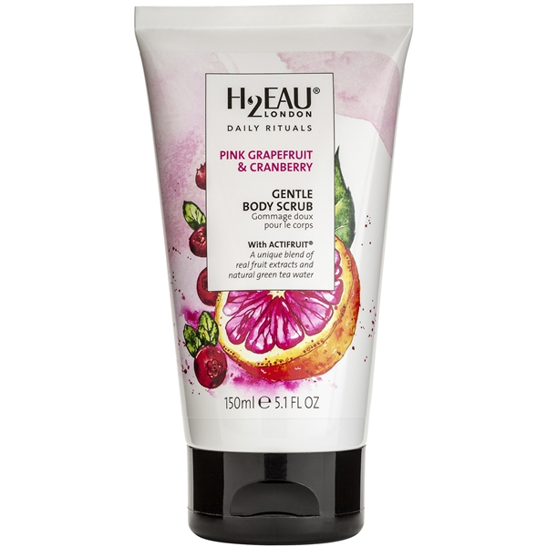 Pink Grapefruit & Cranberry Gentle Body Scrub - H2EAU LONDON
