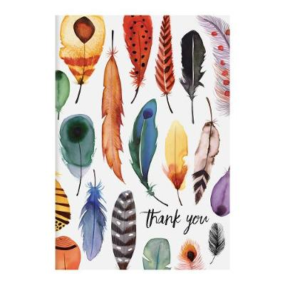 Feathers Parcel Thank You Notecards - Sarah McMenemy