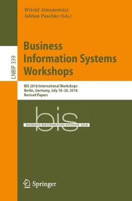 Business Information Systems Workshops - Witold Abramowicz