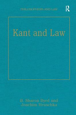 Kant and Law - B. Sharon Byrd