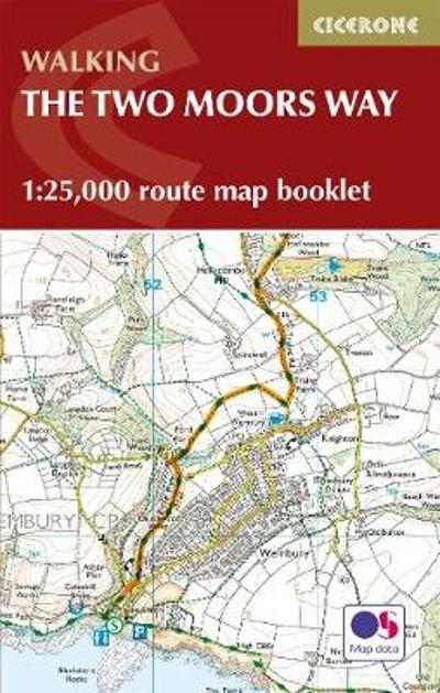 Two Moors Way Map Booklet - Sue Viccars