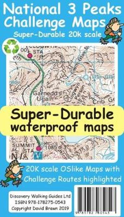 National 3 Peaks Challenge Maps - David Brawn