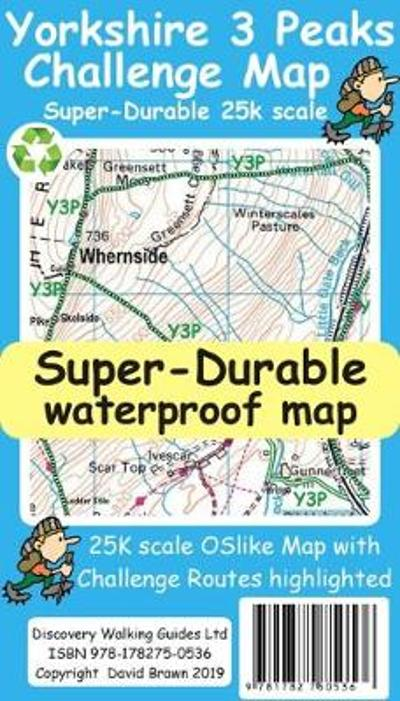 Yorkshire 3 Peaks Challenge Map - David Brawn