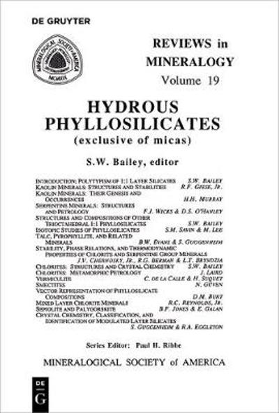 Hydrous Phyllosilicates - S. W. Bailey