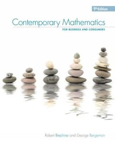 Contemporary Mathematics for Business & Consumers, 9th - Geroge Bergeman