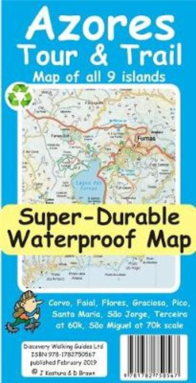 Azores Tour & Trail Super-Durable Map - Jan Kostura