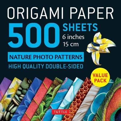 Origami Paper 500 sheets Nature Photo Patterns 6 (15 cm) - Tuttle Publishing