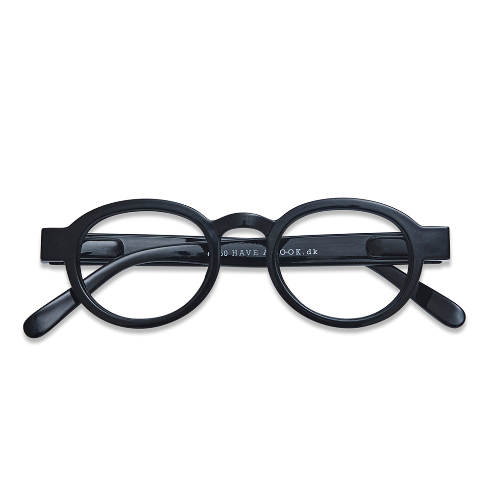 Lesebrille Circle Twist black +3 - 