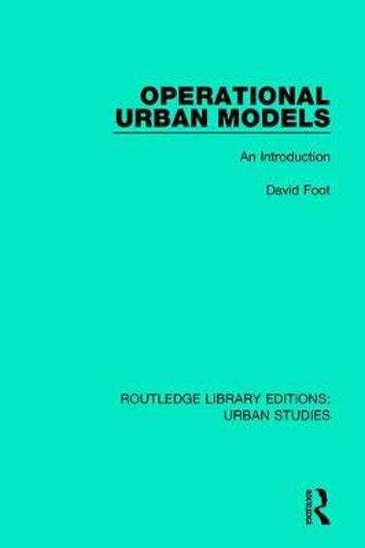 Operational Urban Models - David Foot