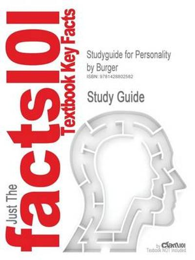Studyguide for Personality by Burger, ISBN 9780534527969 - 6th Edition Burger