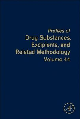 Profiles of Drug Substances, Excipients, and Related Methodology - Harry G. Brittain
