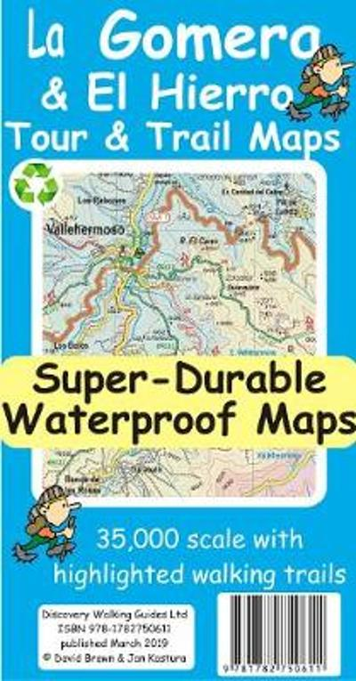 La Gomera & El Hierro Tour & Trail Super-Durable Maps - David Brawn