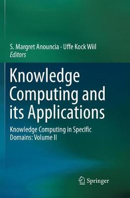 Knowledge Computing and its Applications - S. Margret Anouncia
