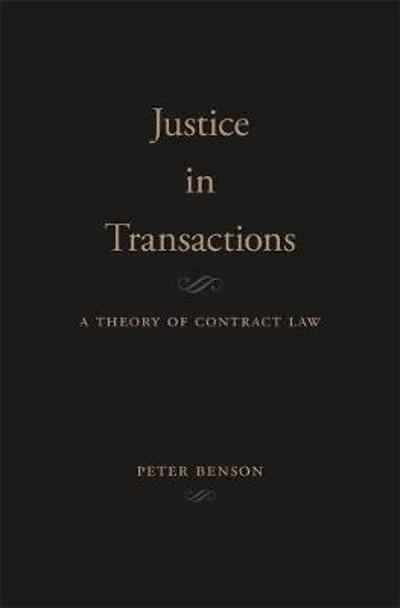 Justice in Transactions - Peter Benson