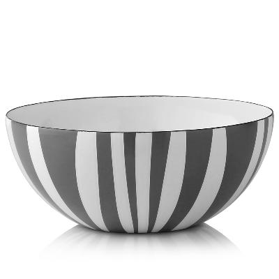 Stripes bolle grå 18 cm - Cathrineholm