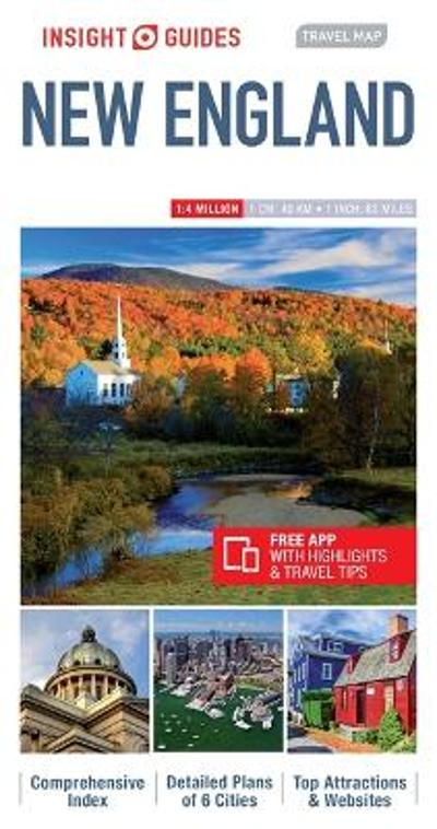 Insight Guides Travel Map New England - Insight Guides
