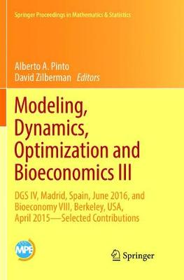 Modeling, Dynamics, Optimization and Bioeconomics III - Alberto A. Pinto