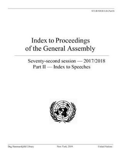 Index to proceedings of the General Assembly - United Nations Publications