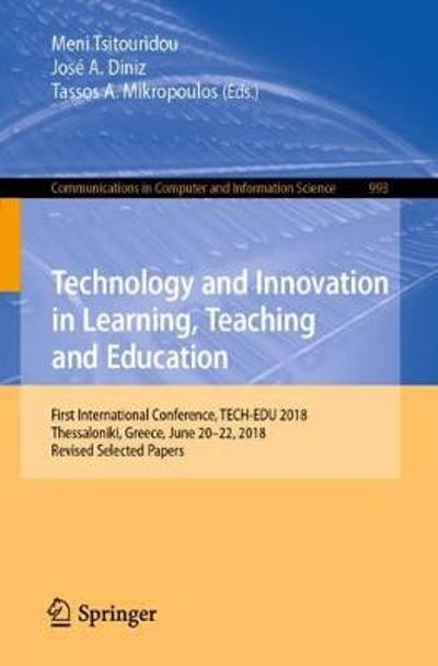 Technology and Innovation in Learning, Teaching and Education - Meni Tsitouridou