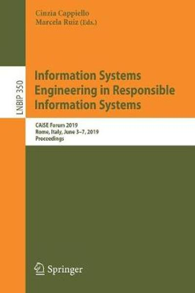 Information Systems Engineering in Responsible Information Systems - Cinzia Cappiello