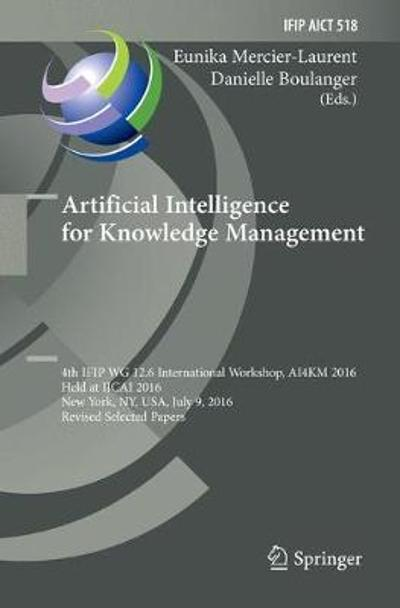 Artificial Intelligence for Knowledge Management - Eunika Mercier-Laurent