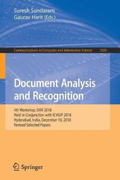 Document Analysis and Recognition - Suresh Sundaram
