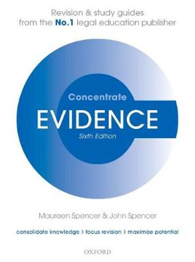 Evidence Concentrate - Maureen Spencer