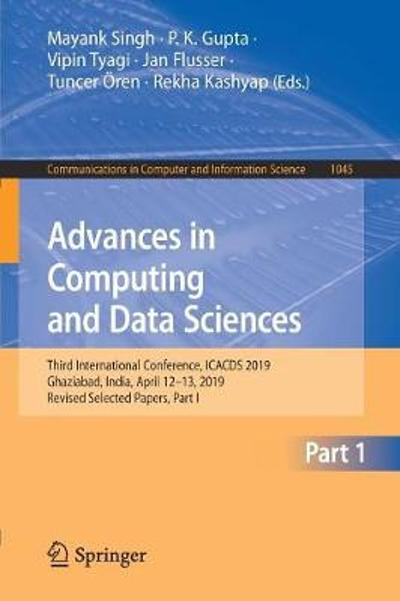 Advances in Computing and Data Sciences - Mayank Singh